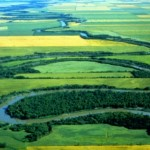 Река Ред-Ривер в Канаде. Фотография