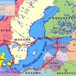 Балтийское море на карте мира