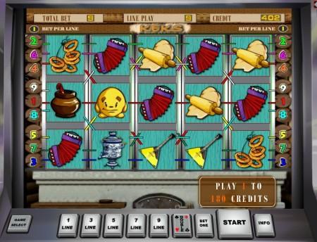 Экран игрового слота одной из игр