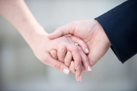 Счастье у семейной пары