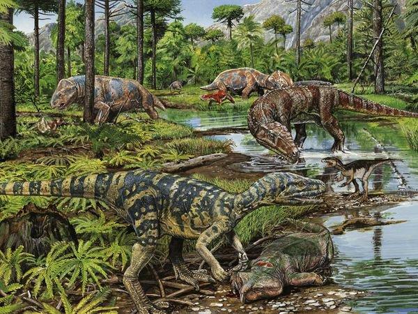 Динозавры в своей среде обитания