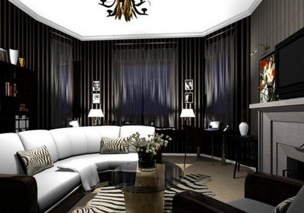 Дизайн зала в стиле Арт-Деко